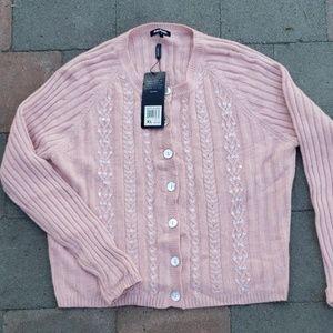 Daisy Fuentes xl pink cardigan (c)